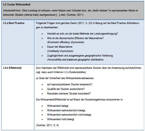 Auszug 2 von 57 Kriterien aus dem MAF v2 Kriterienkatalog (operationalisiert)